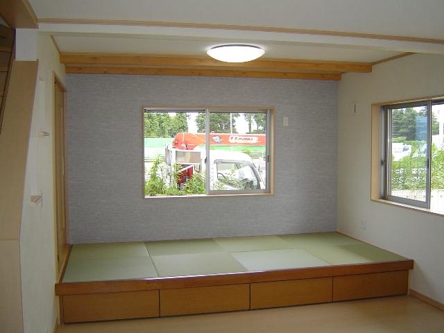 造り付けの畳ベッド